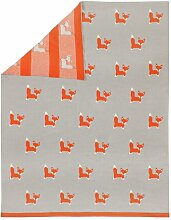 Kuscheldecke Fox Art for kids
