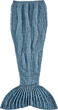 Kuscheldecke Mermaid, blau