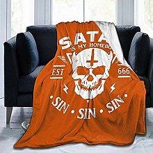 Kuscheldecke Satan Ist Mein Zuhause Junge -