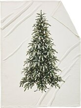 Kuscheldecke Tannenbaum, weiß