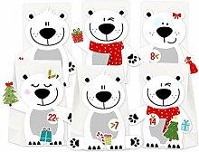 KuschelICH Adventskalender zum Befüllen Eisbär -
