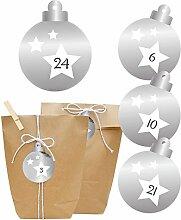 KuschelICH Adventskalender zum Befüllen - Silber