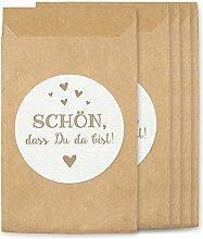 KuschelICH Freudentränen Hüllen & Aufkleber   Tüten für Vintage Hochzeit Taschentücher   umweltfreundlich (25 Stk., Schön)