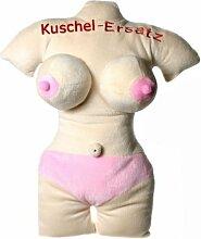 Kuschelkissen Kuschelersatz Funkissen Gag Junggesellenabschied witzig lustig Busenkissen Peniskissen Brust Penis Kissen (Kuschelersatz Frau mit Text)