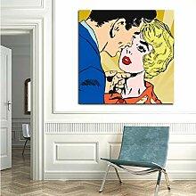 Kuss Des Geliebten Bild Abstrakten