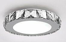 Kusun® Moderne Kristall LED Decke Licht transparenten Crystall Glaslampe Ø21cm 7W weiß 6000k für Flur / Treppenhaus / Schlafzimmer / Esszimmer KX0531-Q-7-W
