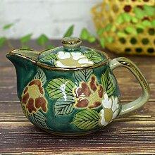 Kutani Keramik Teekanne Topf sasanqua (Teesieb)