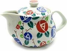 Kutani Yaki Japanische Teekanne Rose (mit Teesiebe)