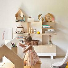 Kutikai Bücherregal aus Birkenholz ´´Roof´´
