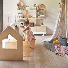 Kutikai Kindertisch aus Holz ´´Roof´´ mit geneigter Tischplatte (100x62x82 cm)
