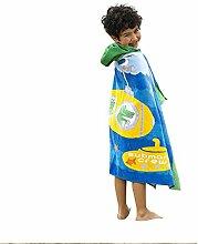 Kuuboo Kinder Bademantel mit Kapuze, 100 %