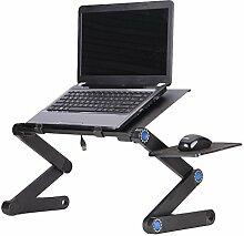Kuuboo zusammenklappbarer Laptop-Tisch mit Platte