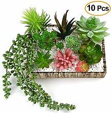 Kuuqa Künstliche Sukkulenten Blumen Pflanzen