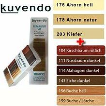 kuvendo ReparaturSet 10 Farben für Parkett, Laminat, Möbel, Fenster und Türen