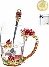 Kuvuiuee Weinglas GlasKaffeetasse-Teetasse Und