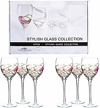 Kuvuiuee Weinglas Set Mit 6 Handgefertigten Und