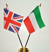 Kuwait und United Kingdom Freundschaft Tisch Flagge Display 25cm (25,4cm)