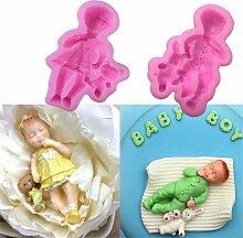 Kuxse 1 Paar 3D Junge Mädchen Puppe Bär