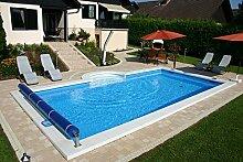 Kwad Pool d. L. 8,0x4,0x1,5m m. Treppe