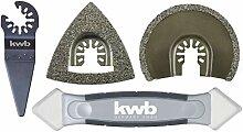 kwb by Einhell 4-tlg. Multi-Tool-Set für Fliesen