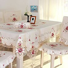 KWERSZB Bestickte Tischdecke Tischdecke aus