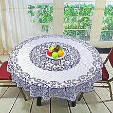 KWERSZB Runde Tischdecke zum Einmalgebrauch