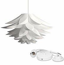 kwmobile DIY Puzzle Lampe Lampenschirm - Lotus