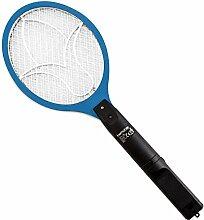 kwmobile Elektrische Fliegenklatsche Mückenklatsche Insektenschläger - Insektenvernichter Blau für Mücken Fliegen - Fliegenklatsche elektrisch