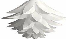 kwmobile Lampenschirm Lotus Lampe DIY - Puzzle Leuchte weiß - 50 cm für Deckenleuchte Hängelampe Pendelleuchte Flower Design