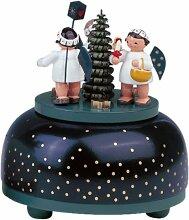 KWO Olbernhau 13013 Spieldose klein Engel mit