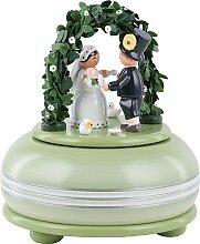 KWO Olbernhau 13054 Spieldose klein Hochzeitsfest