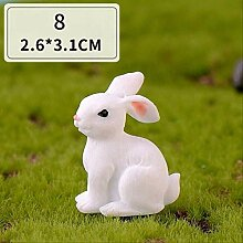 KWOSJYAL 6 Stücke Niedlichen Kaninchen Miniatur
