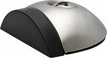 KWS Bodentürpuffer - Bodenplatte Durchmesser 57 mm, Anschlagh. 17 mm, Edelstahl matt, Türstopper, Türpuffer, Bodentürstopper, 1 Stück, 200182