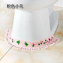 KXZDAS dekorative Aufkleber wc wc Wc base Anti-fouling Wandaufklebern abnehmbaren Steckplatz baseboard Wand bar Rosa Vogel