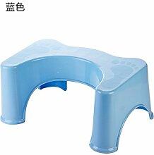KXZDAS Haushalt wc wc Kinder hocken Werkbank Kunststoff stepping Hocker Sitzbank hocke Hocke banktoilette Hocker blau gepolsterten