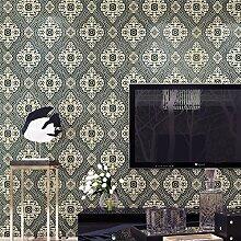 KXZZY 3D nicht - Gewebte Tapete wohnzimmer schlafzimmer tapete wand hintergrund blau 10m*0.53m