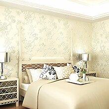 KXZZY 3D nicht - Gewebte Tapete Wohnzimmer Schlafzimmer Wand Hintergrund Tapete M 0.53M*10M WEISS