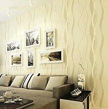 KXZZY 3D nicht - Gewebte Tapete Wohnzimmer Schlafzimmer Wand Hintergrund Tapete M 0.53M*10M GELB