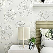 KXZZY Europäische 3D nicht - Gewebte Tapete Wohnzimmer Schlafzimmer TV Hintergrund weiss 10m*0.53m