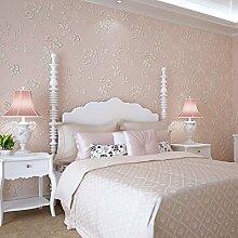 KXZZY Europäische 3D nicht - Gewebte Tapete Wohnzimmer Schlafzimmer TV Hintergrundbild Sweet Pulver 0.53M*10M