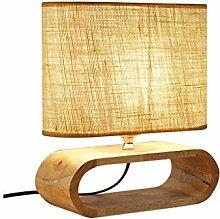 KYBYMX,Nordic Schreibtischlampe Holz Tischlampe