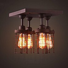 KYDJ ® Amerikanischen Retro Loft ländlichen industriellen Wind und Eisen Deckenleuchten Wohnzimmer Schlafzimmer Creative Eingang Aisle Restaurant Deckenleuchten --Home Warm Deckenleuchte