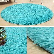 KYDJ Cute rundes Bett mit Teppich Teppich Fitness Yoga Wiege Computer Stuhl Wohnzimmer Schlafzimmer Teppich (Farbe, Größe Optional) (color:#9, Größe: 120 cm)