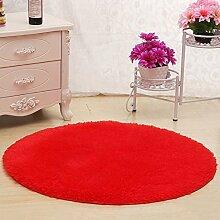 KYDJ Cute rundes Bett mit Teppich Teppich Fitness Yoga Wiege Computer Stuhl Wohnzimmer Schlafzimmer Teppich (Farbe, Größe Optional) (color:#1, Größe: 140 cm)