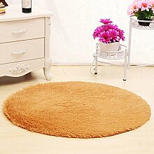 KYDJ Cute rundes Bett mit Teppich Teppich Fitness Yoga Wiege Computer Stuhl Wohnzimmer Schlafzimmer Teppich (Farbe, Größe Optional) (color:#4, Größe: 120 cm)