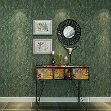 KYDJ ® Europäische 3D nicht gewebte Tapete Wohnzimmer Schlafzimmer TV Hintergrundbild dunkelgrün 0,53 m * 10 m