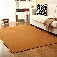 KYDJ FIOFE/modernen minimalistischen im Europäischen Stil bett Decke/Schlafzimmer Wohnzimmer Sofa Couchtisch Wolldecke/Rechteckiger Teppich khaki beige (Farbe: B, Größe: 140 * 200 cm)