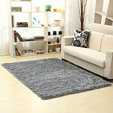 KYDJ FIOFE/Rechteckige Einfache Wolldecke/Wohnzimmer Sofa Couchtisch Schlafzimmer Küche Bett Matte Silber-grau (Farbe: Kurze Haare, Größe: 160*230cm)
