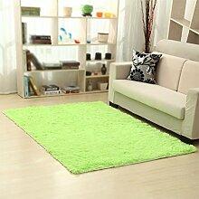 KYDJ FIOFE/Rechteckige minimalistischen Wolldecke/Wohnzimmer Sofa Couchtisch Schlafzimmer Küche Bett Kissen Frucht grün (Farbe: Lange Haare, Größe: 80*200cm)