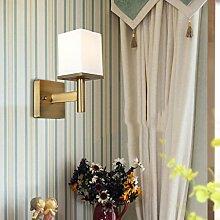 KYDJ Moderne amerikanische Wandleuchte Wohnzimmer Schlafzimmer Bett Wand Licht Spiegel vordere Lampe Single Head Wandleuchte A+